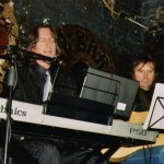 John with Pete Aves performing at the 12 Bar Club, January 2006