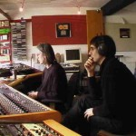 John with Andre Barreau mixing As I Was Saying, May 2005, Dreamworld Studio, Pembrokeshire